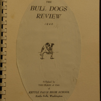 The Bull Dogs Review 1946, The Class of 1946, Kettle Falls High School, Kettle Falls, Washington