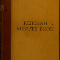 Rebekah Minute Book October 1927 - November 1932 (Pg 001)