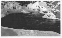 Waterfall at Kettle Falls during Winter