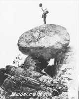 Man on Balanced Rock