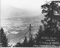 Kettle Falls and the Columbia Valley from Horsehead Mountain
