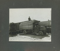 Truck with lumber