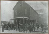 The Red school house built in 1892 (Springdale)