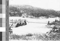 Early bridge over Kettle Falls